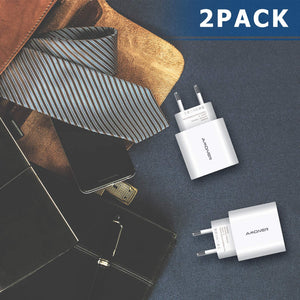 Amoner 3 Ports Charger 2 Pack For Germany