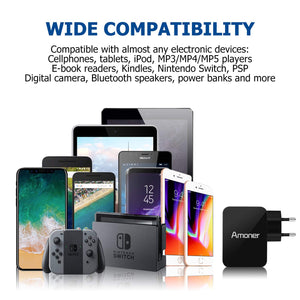 Amoner QC 3.0 Fast Charger For iPhone, Samsung, LG, Huawei & More For Germany