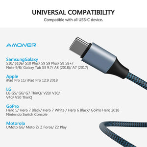 Amoner USB Type C Cable 3FT 6FT 10FT