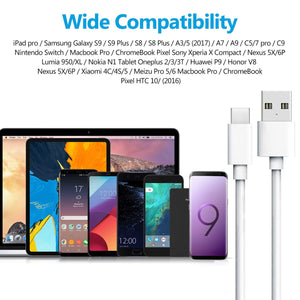 Amoner Fast Charging Type C Cable For Macbook, iPad Pro, Android Phone & More
