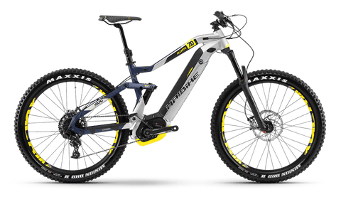 Haibike XDURO AllMtn 7.0 - with Silver/Blue/Yellow trim