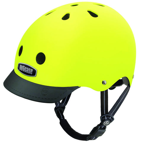 'Lightnight' FLURO YELLOW Nutcase Street Helmet S