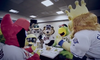 MLB Mascots Have Food Fight At Thanksgiving Dinner