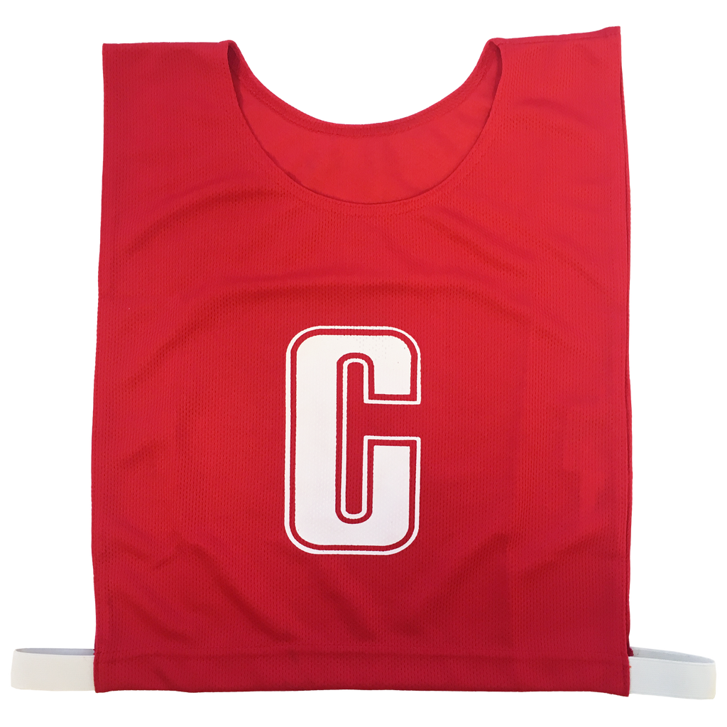 6-a-Side Bib Set, Colour: Red