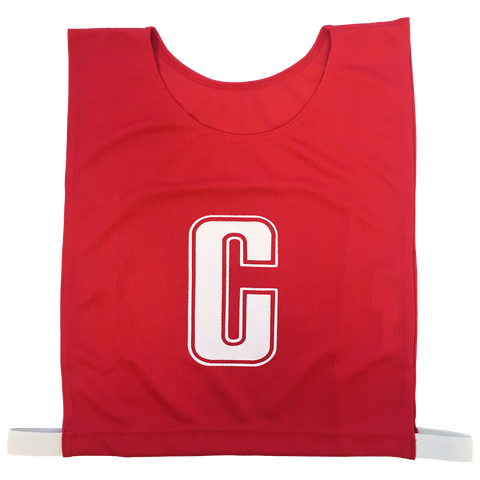 Image of 6-a-Side Bib Set - Colour Red