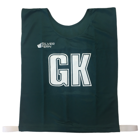 7-a-Side Bib Set - Size Large - 51cm (L)  x 41cm (W), Elastic 55cm (one side, not stretched) - Colour Green