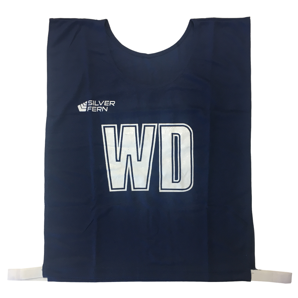 7-a-Side Bib Set - Size Large - 51cm (L)  x 41cm (W), Elastic 55cm (one side, not stretched) - Colour Navy