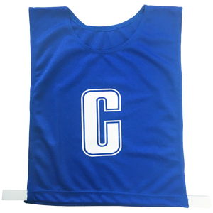 7-a-Side Bib Set - Size Large - 51cm (L)  x 41cm (W), Elastic 55cm (one side, not stretched) - Colour Royal Blue