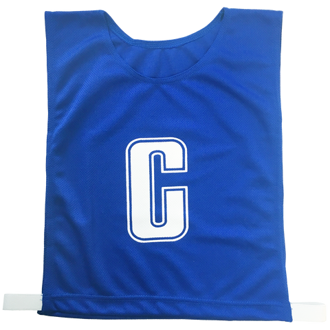 Image of 7-a-Side Bib Set - Size Large - 51cm (L)  x 41cm (W), Elastic 55cm (one side, not stretched) - Colour Royal Blue