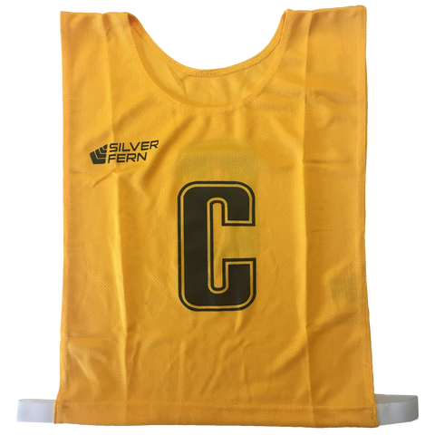 7-a-Side Bib Set, Size: Large - 51cm (L)  x 41cm (W), Elastic 55cm (one side, not stretched), Colour: Yellow
