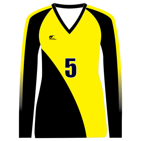 Image of Long Sleeve Womens Volleyball Top - Type A190002LSV