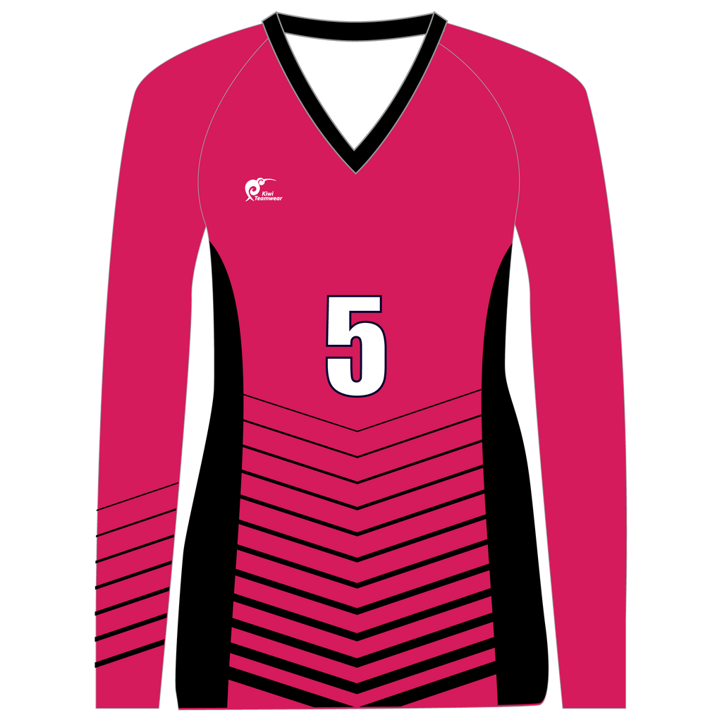Long Sleeve Womens Volleyball Top, Type: A190003LSV