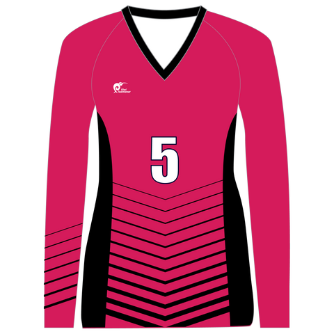 Long Sleeve Womens Volleyball Top - Type A190003LSV