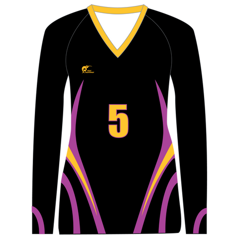 Image of Long Sleeve Womens Volleyball Top - Type A190009LSV