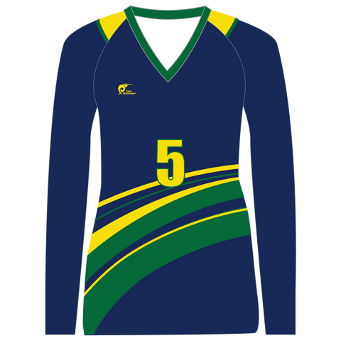 Image of Long Sleeve Womens Volleyball Top - Type A190010LSV