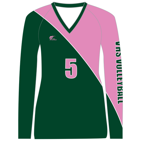 Image of Long Sleeve Womens Volleyball Top - Type A190012LSV