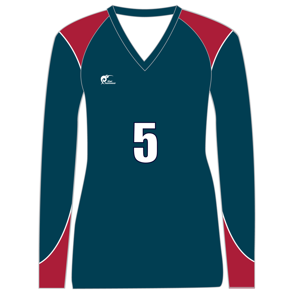Long Sleeve Womens Volleyball Top, Type: A190013LSV