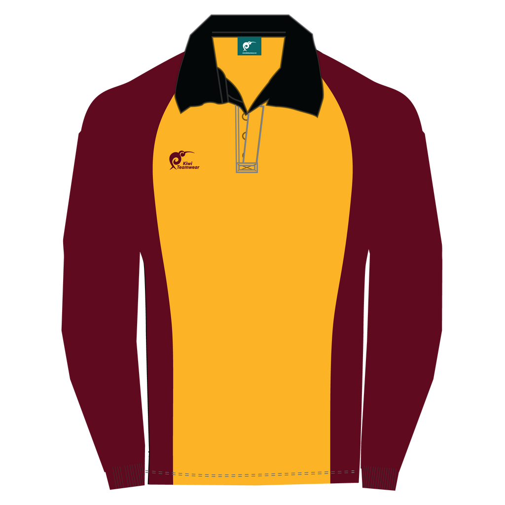 Long Sleeve Panel Cotton Rugby Jersey, Type: A190050PCJ