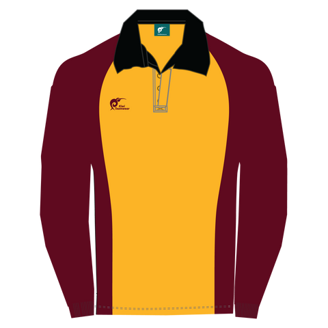 Image of Long Sleeve Panel Cotton Rugby Jersey, Type: A190050PCJ