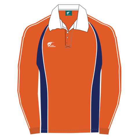 Image of Long Sleeve Panel Cotton Rugby Jersey, Type: A190051PCJ