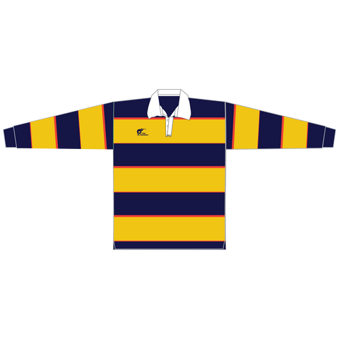 Image of Long Sleeve Knitted Cotton Rugby Jersey, Type: A190054KCJ