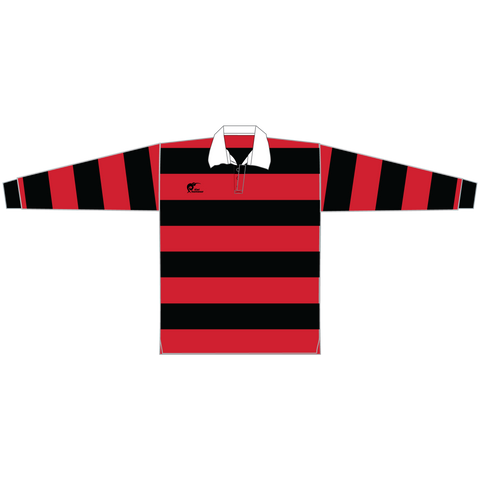 Image of Long Sleeve Knitted Cotton Rugby Jersey, Type: A190058KCJ