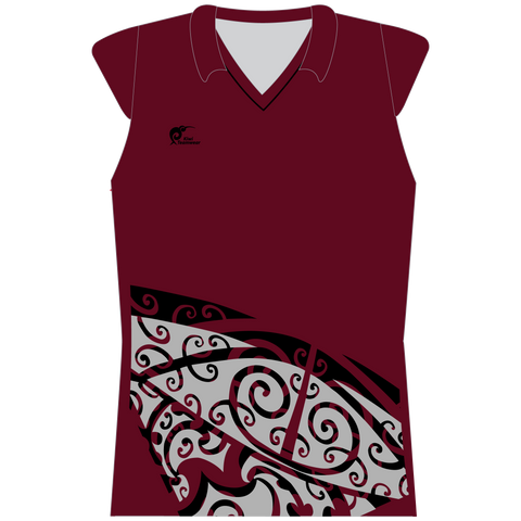 Womens Sublimated Capped Sleeve Shirt - Type A190190SCSF
