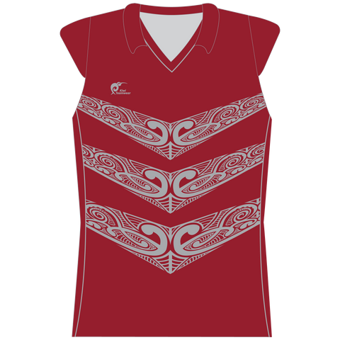 Image of Womens Sublimated Capped Sleeve Shirt - Type A190195SCSF