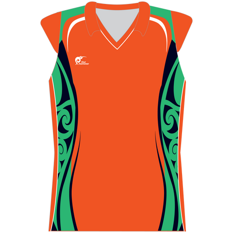 Image of Womens Sublimated Capped Sleeve Shirt - Type A190196SCSF