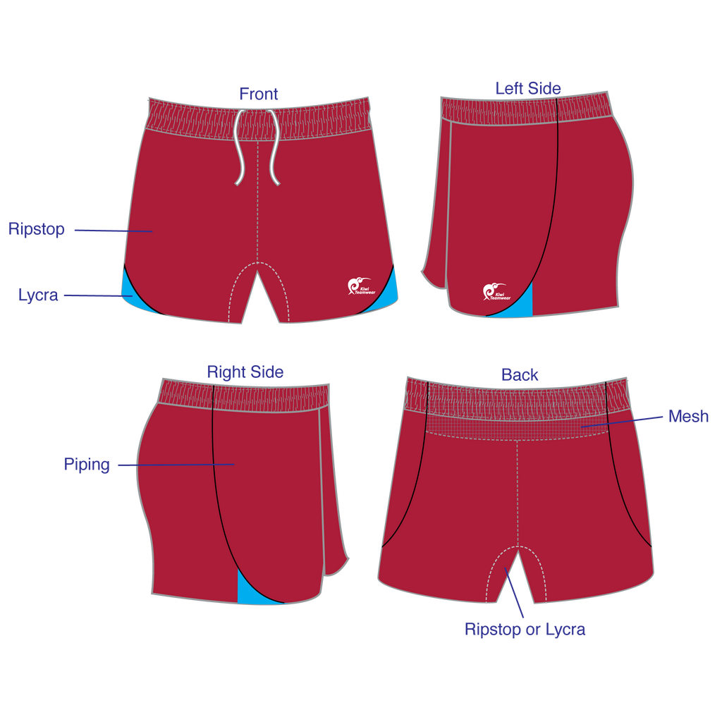 Mens Elite Panel Rugby Shorts, Type: A190287PERS