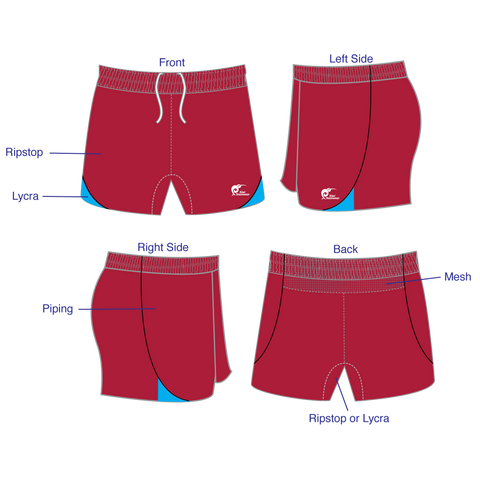 Image of Mens Elite Panel Rugby Shorts, Type: A190287PERS
