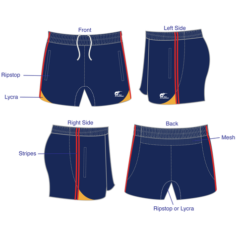 Image of Mens Referee Rugby Shorts - Type A190304PRRS