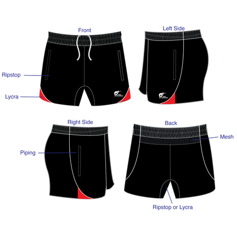 Image of Mens Referee Rugby Shorts - Type A190305PRRS