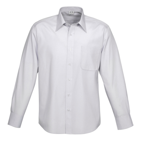 Mens Ambassador Shirt, Style: Long Sleeve, Colour: Silver Grey