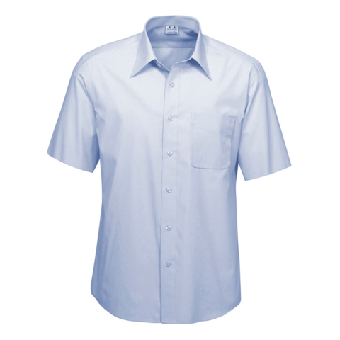 Mens Ambassador Shirt - Style Short Sleeve - Colour Blue