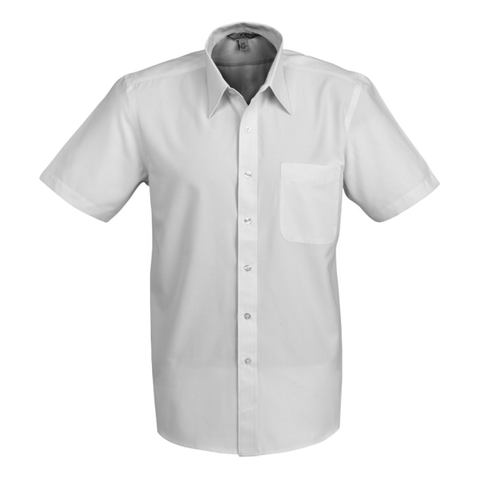 Mens Ambassador Shirt, Style: Short Sleeve, Colour: Silver Grey
