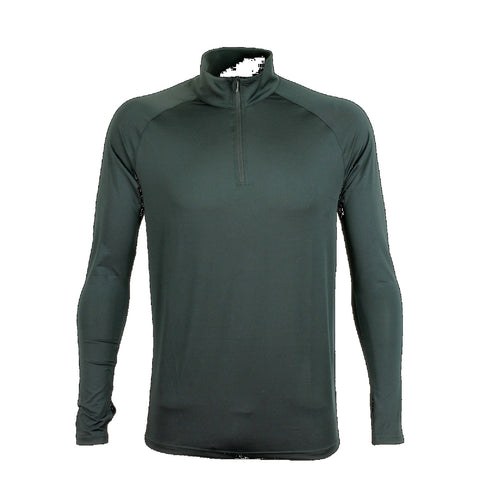 Mens Quarter Zip Stadium Top, Colour: Black