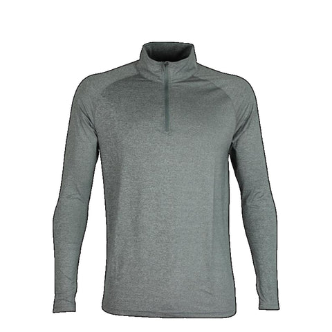 Mens Quarter Zip Stadium Top, Colour: Grey Marle