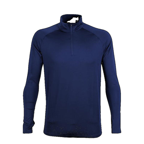 Mens Quarter Zip Stadium Top, Colour: Navy