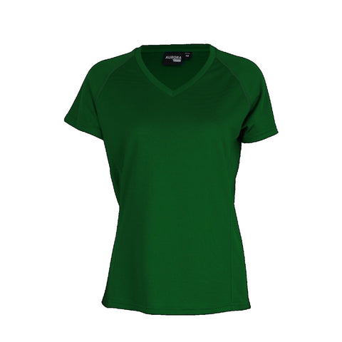 Aurora Womens Performance Tee, Colour: Bottle
