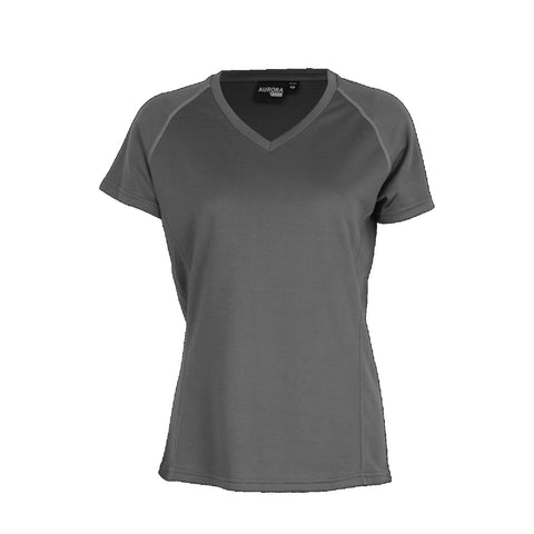 Aurora Womens Performance Tee, Colour: Dark Grey
