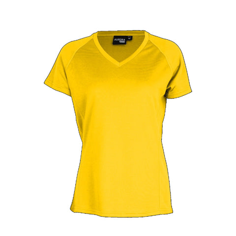 Aurora Womens Performance Tee, Colour: Gold