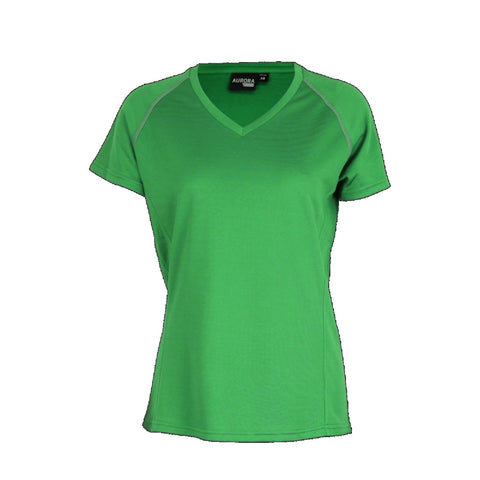 Aurora Womens Performance Tee, Colour: Kelly Green