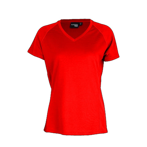 Aurora Womens Performance Tee, Colour: Red