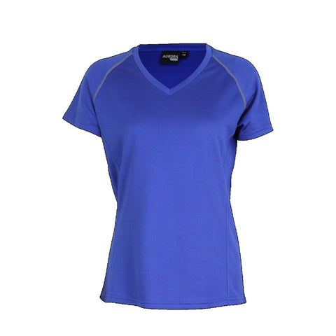 Aurora Womens Performance Tee, Colour: Royal
