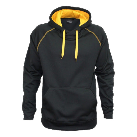 Aurora Adults XTH Performance Hoodie , Colour: Black / Gold