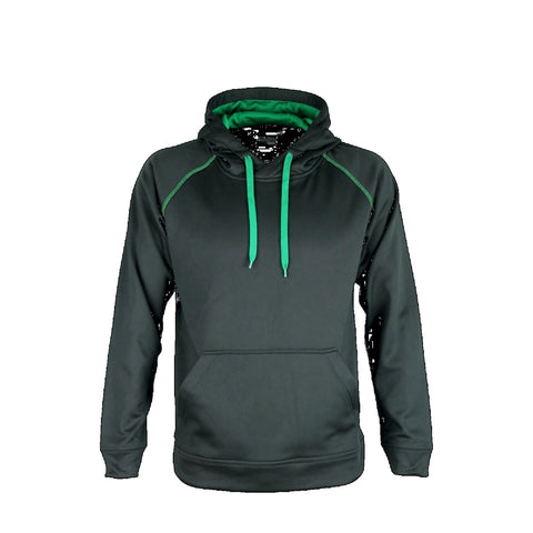 Aurora Adults XTH Performance Hoodie , Colour: Black / Kelly Green