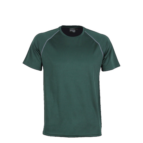 Aurora Kids Performance Tee, Colour: Bottle