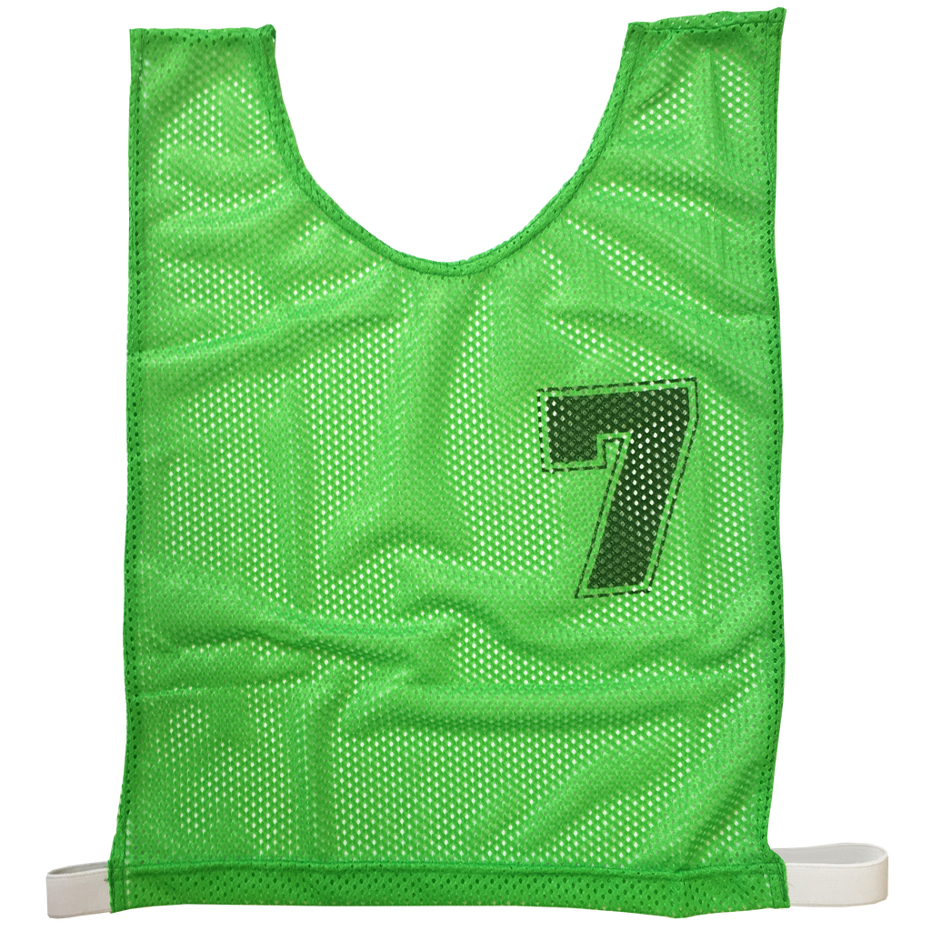Basketball Numbered Bibs Set - Size XXL - Colour Green