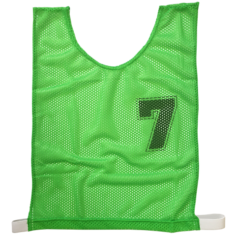 Basketball Numbered Bibs Set, Size: XXL, Colour: Green